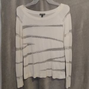 Express,light sweater with mesh cutouts,